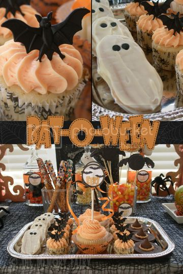 Bat-O-Ween cupcakes and cookies by The Memory Fairy ©2012